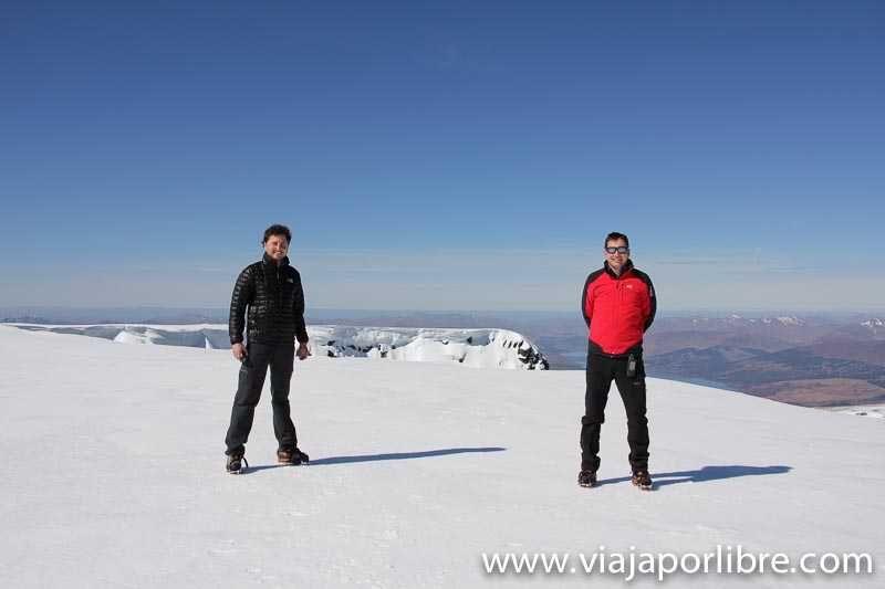 Javier y Miguel en Ben Nevis, Escocia