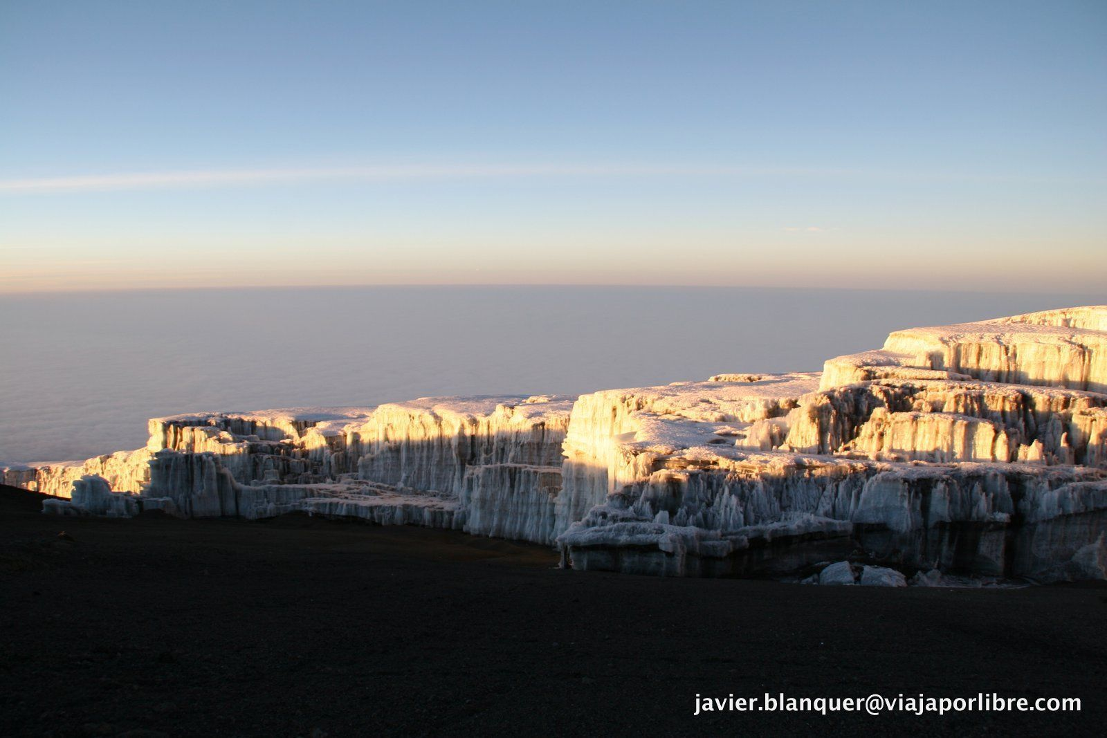 Glaciares en la cumbre