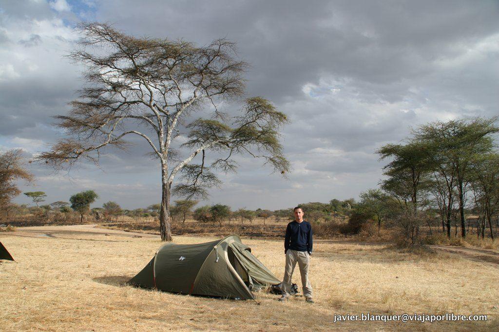 Acampada en el Serengeti