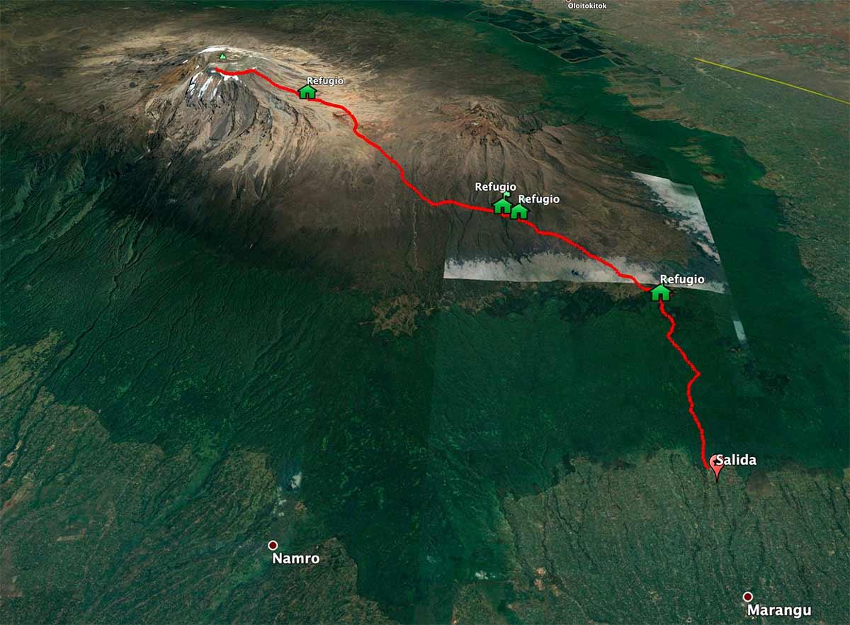 Mapa Kilimanjaro