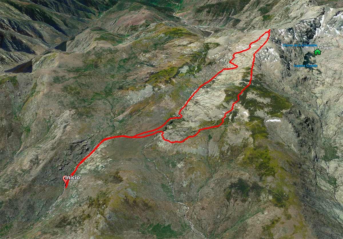 Mapa ruta al Morezón
