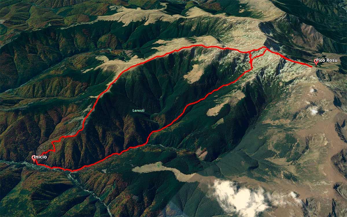 Mapa Pico Rosu