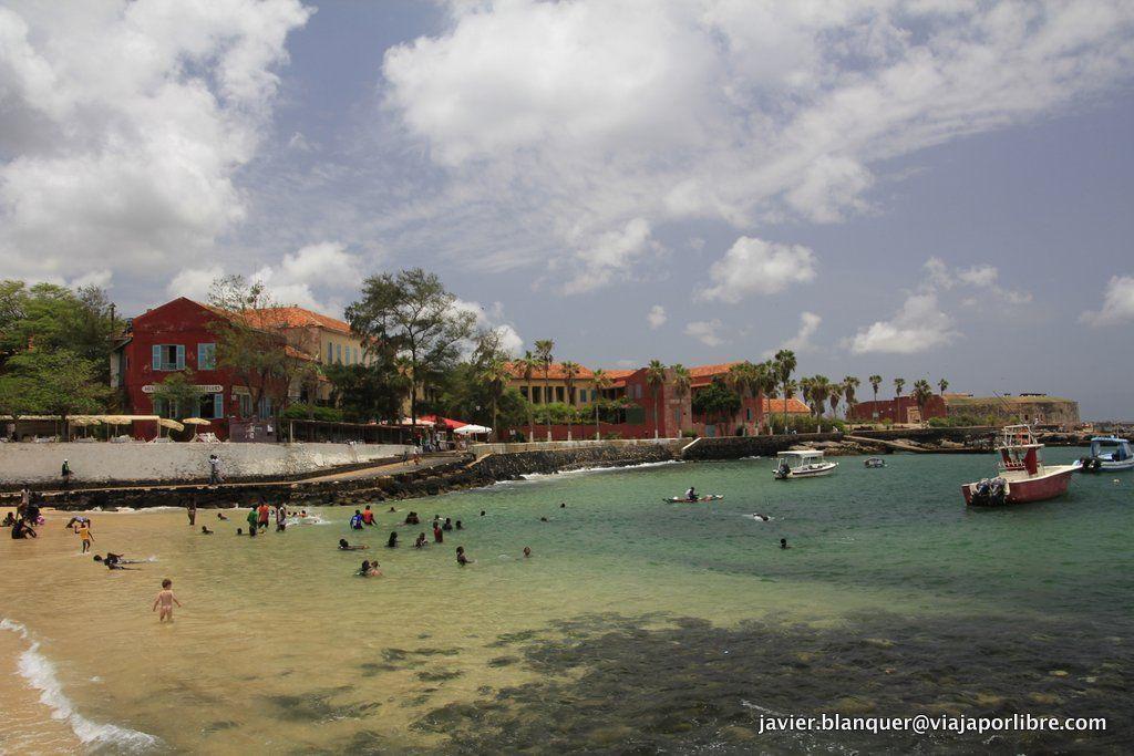 La playa de la isla de Gorée