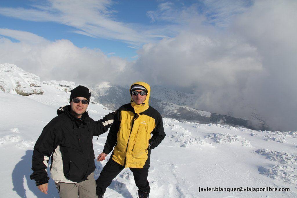 Carlos y Javier en el Pico de la Najara