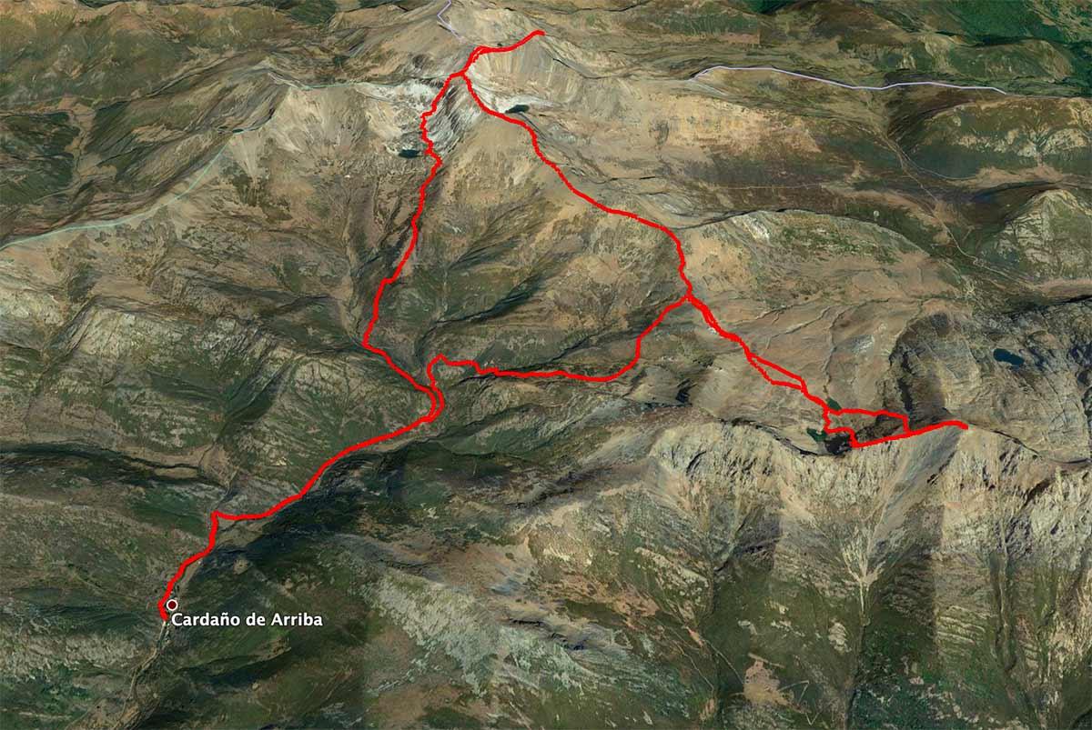 Mapa Peña Prieta