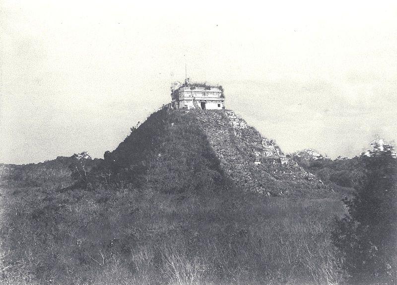 Kukulcán por Teobert Maler (1892)