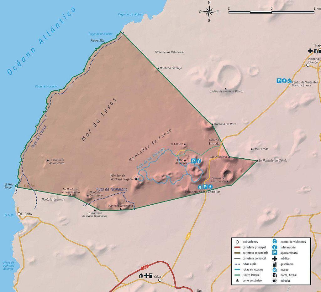 Mapa de Timanfaya