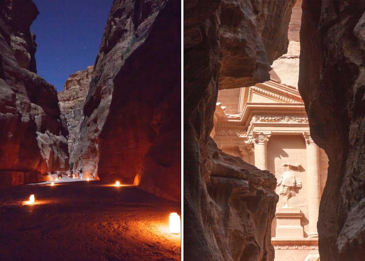 Petra de día y de noche