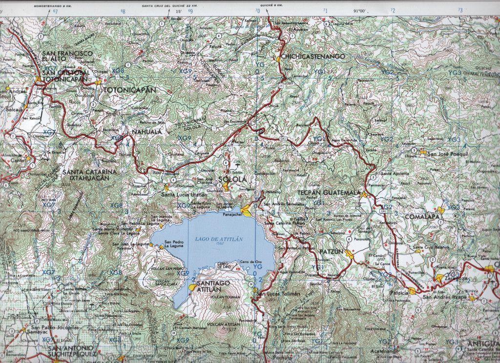 Mapa Lago de Atitlán