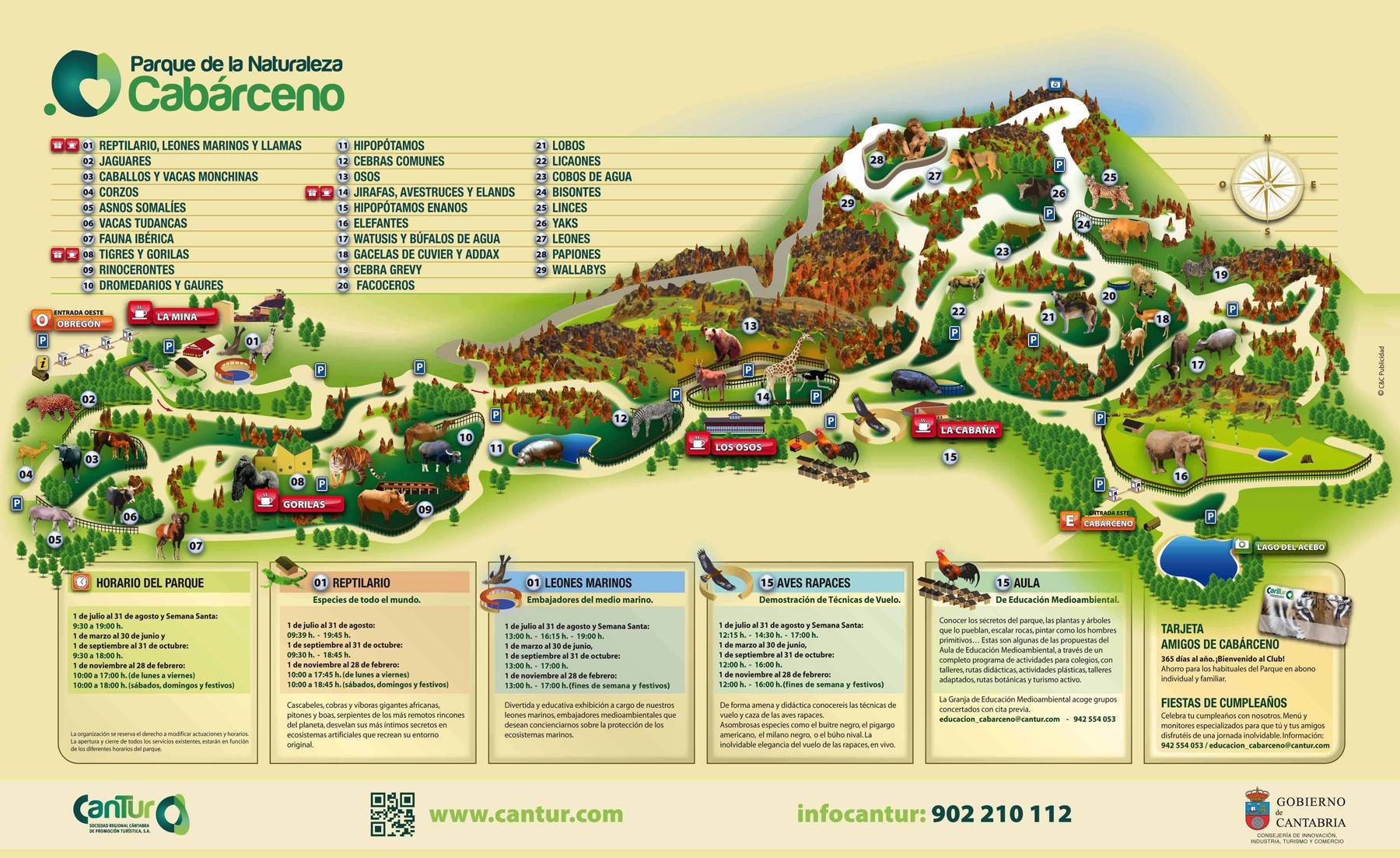 Mapa de Cabarceno (vía cantur.com)