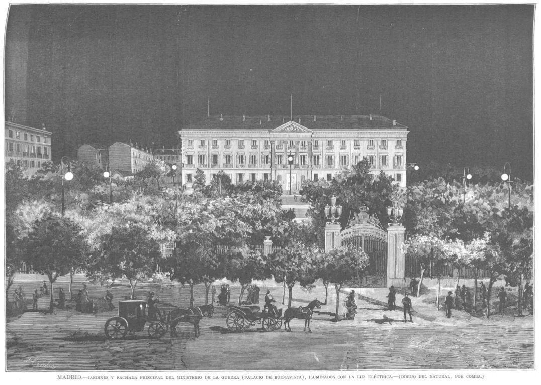 Palacio de Buenavista en el siglo XIX