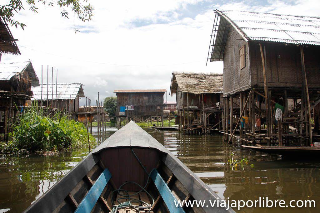 Pueblos flotantes del Lago Inle