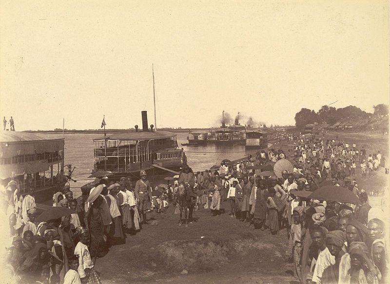Llegada de las tropas británicas en 1885