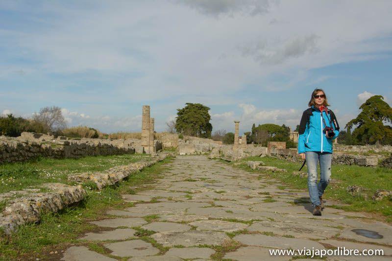 Calles de Paestum
