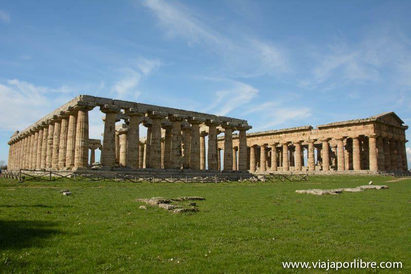 La Basílica (1º templo de Hera) y el 2º Templo de Hera ó Apolo