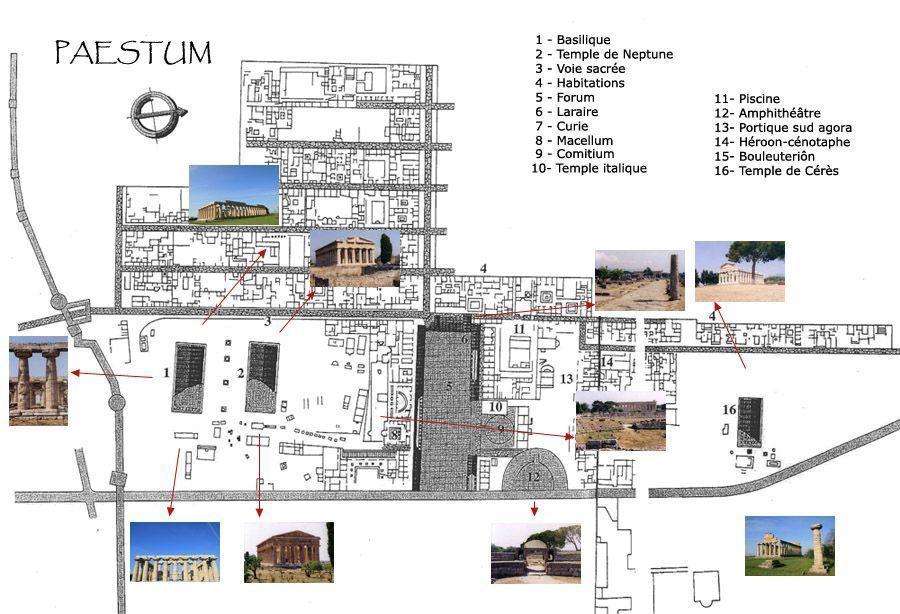 Mapa de Paestum