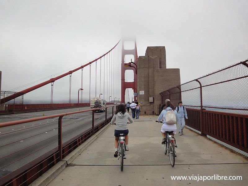 Golden Gate en Bicicleta