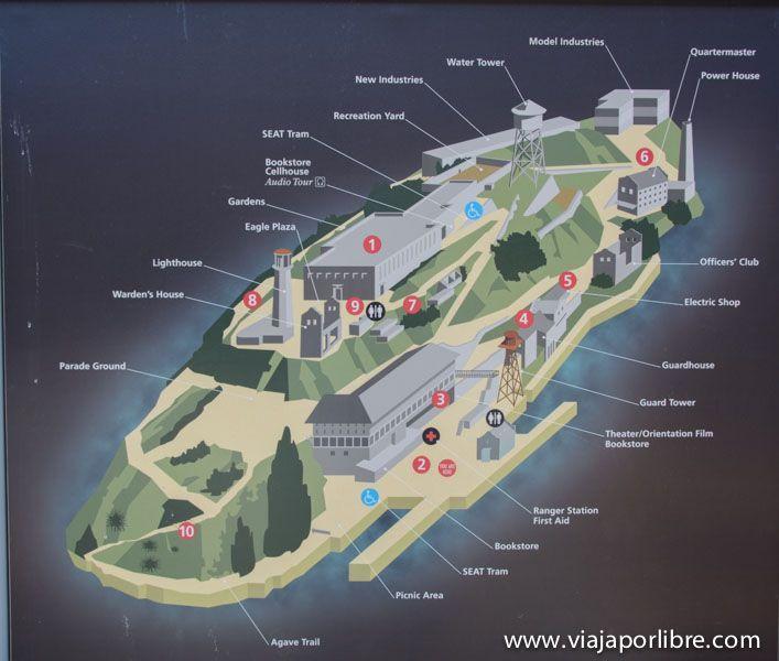 Mapa de Alcatraz
