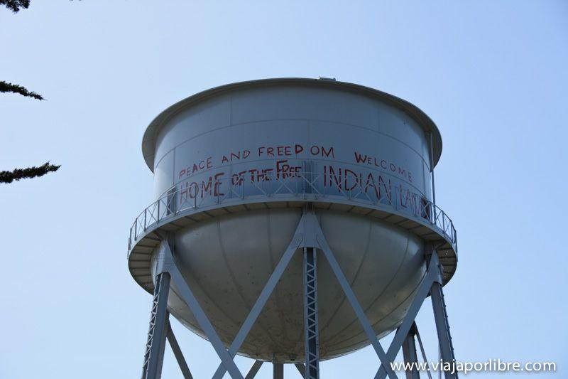 Pintadas de Indios Americanos en la Isla de Alcatraz
