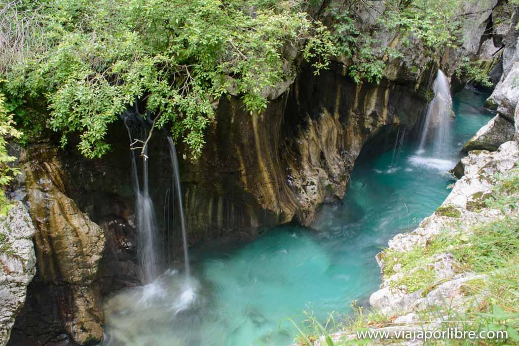 Cascadas de Eslovenia - Garganta del Río Soca