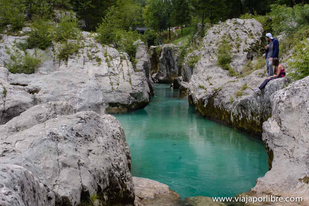 Senderismo en el Alpe Adria Trail - Garganta del Río Soca