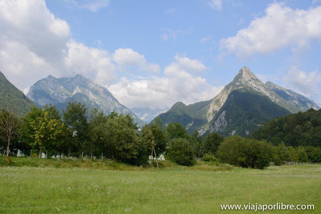 Trekking en Eslovenia. El Alpe Adria Trail - Rio Soca