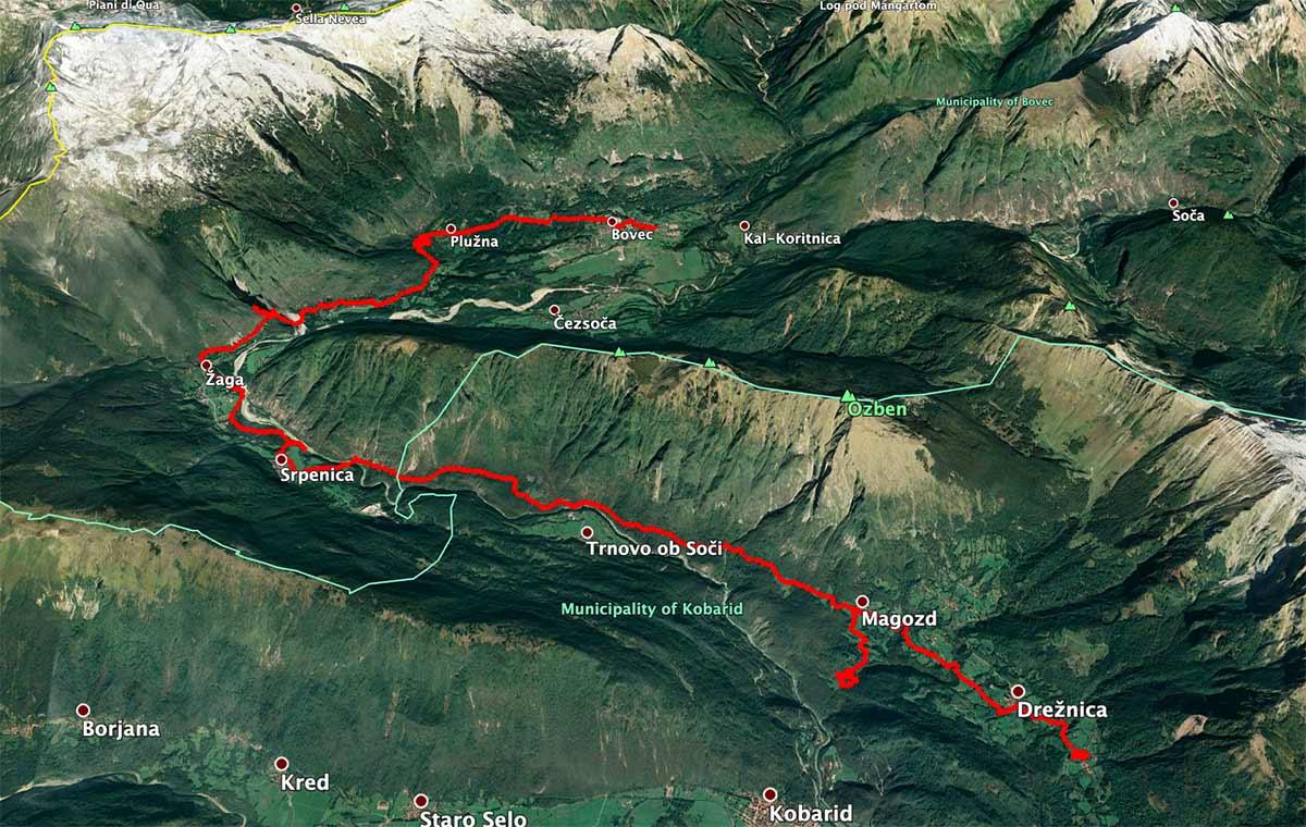 Mapa de la etapa 25