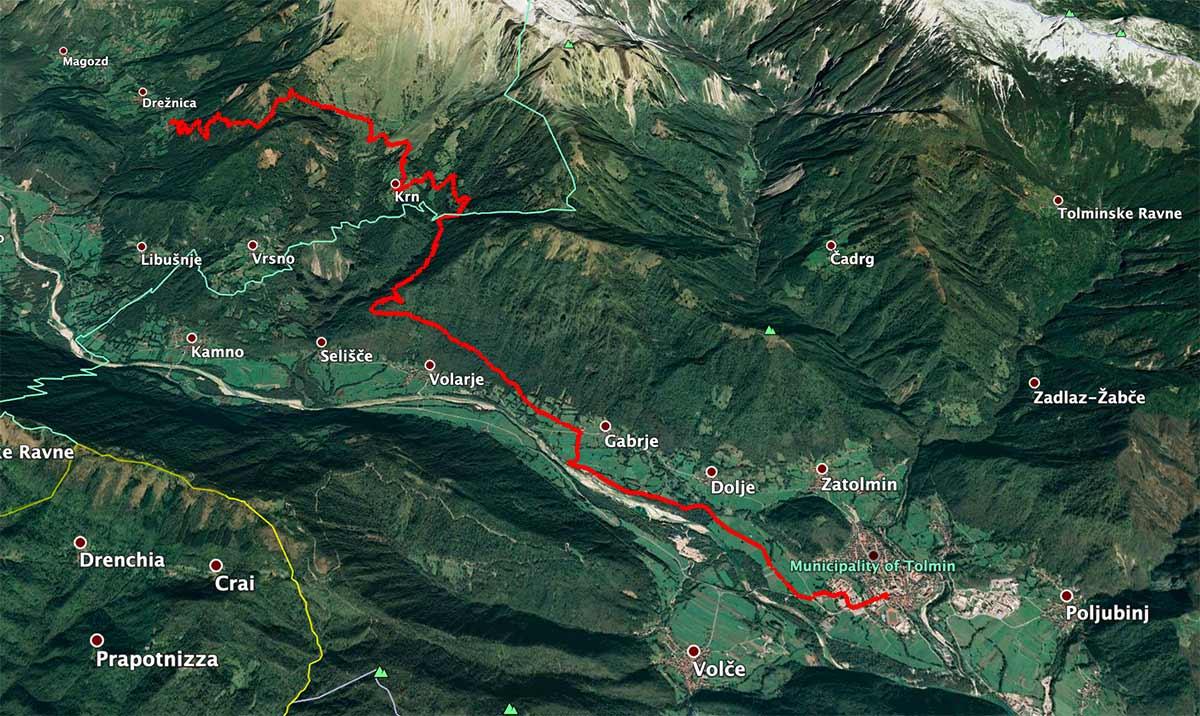 Mapa de la etapa 26