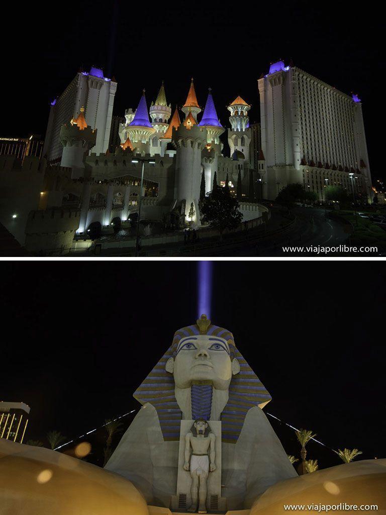Luxor - Excalibur - Lugares que no debes perderte en Las Vegas