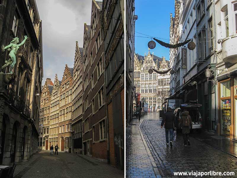 Puntos clave en la ciudad de Amberes - Sus calles
