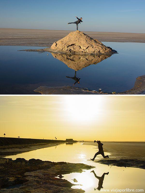 Lago salado de Chott el Djerid