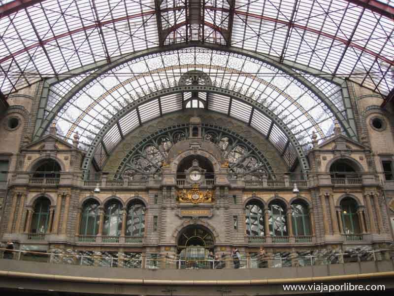 Puntos clave en la ciudad de Amberes - Estacion central