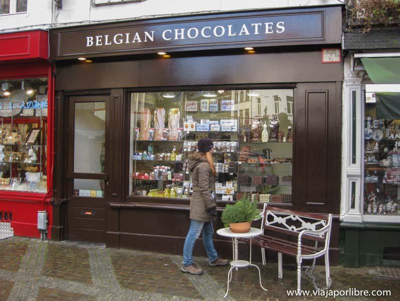 Amberes - Tienda de chocolate