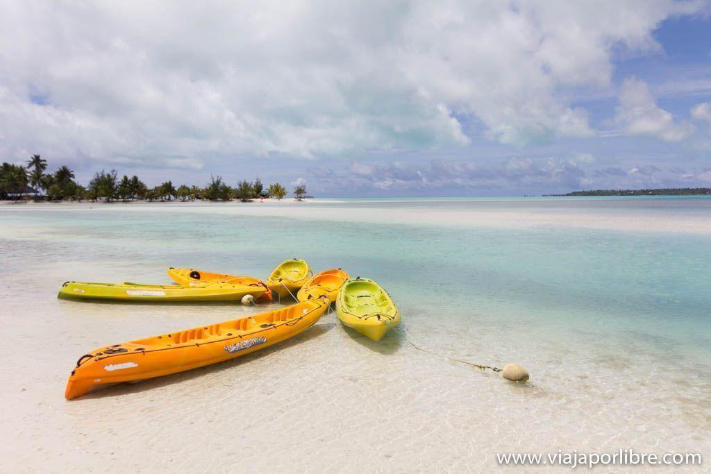 Kayak en Aitutaki