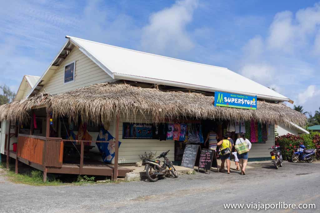 Supermercado en Aitutaki