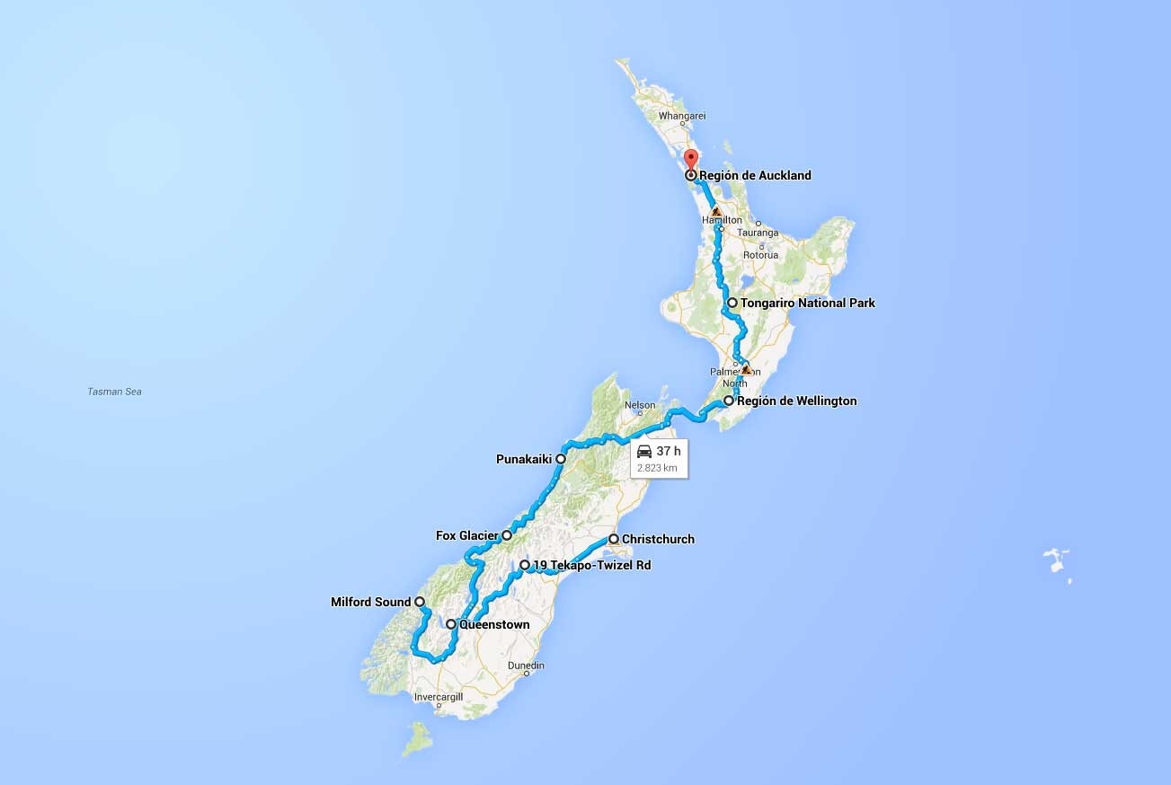 Nuestro recorrido por Nueva Zelanda