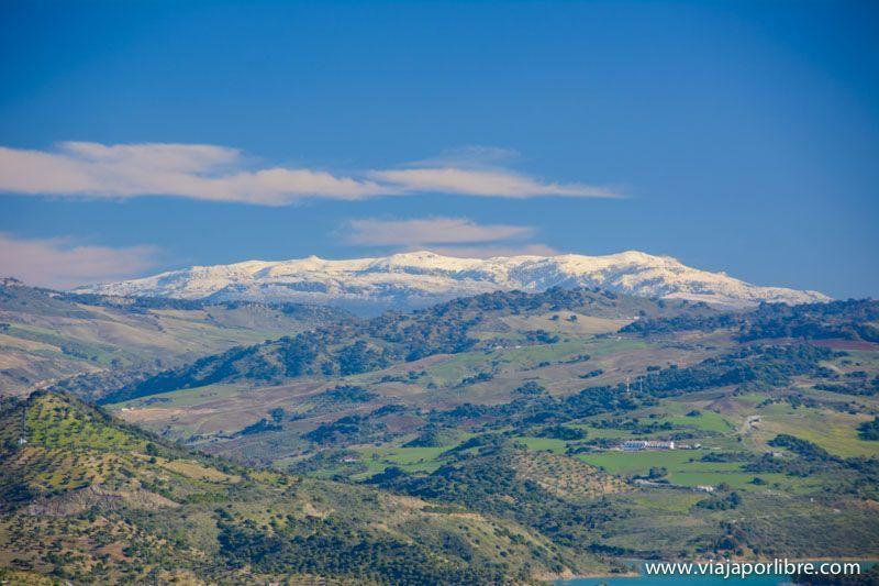 Sierra de Ronda desde Zahara de la Sierra
