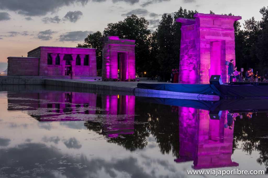 Templo de Debod por la noche