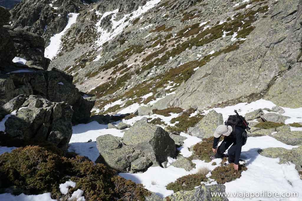 Bajada por la vía de Becerril de la Sierra