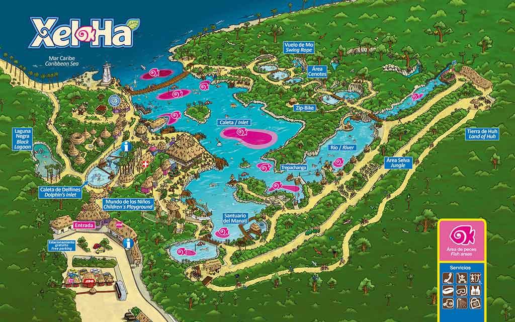 Mapa de Xel-Ha