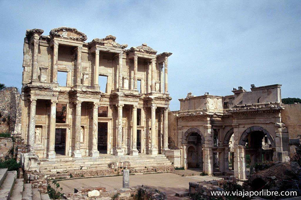Efeso - Biblioteca-de-Celso
