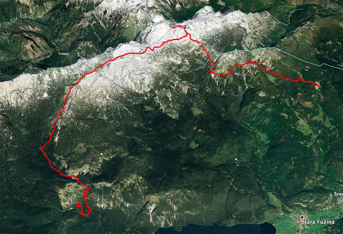 Mapa Triglav