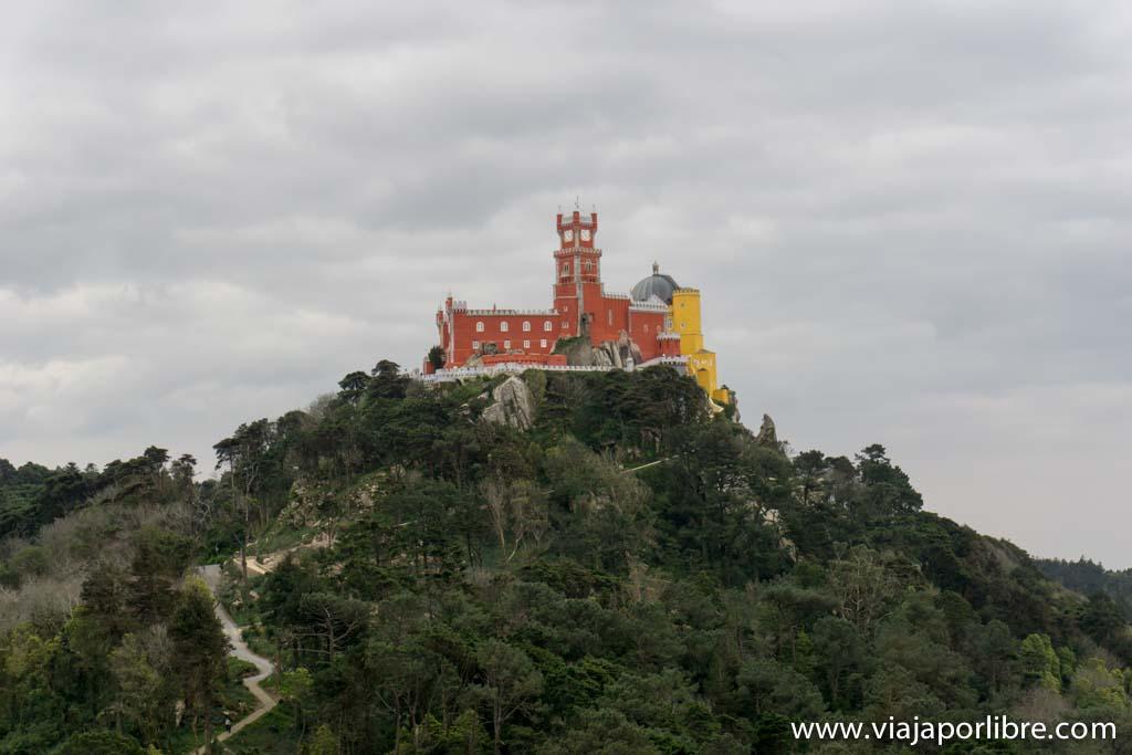Palacio de la Pena desde el Castillo de los Moros