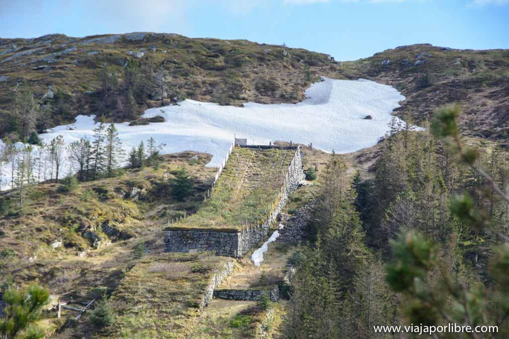 Rampa de salto de esquí
