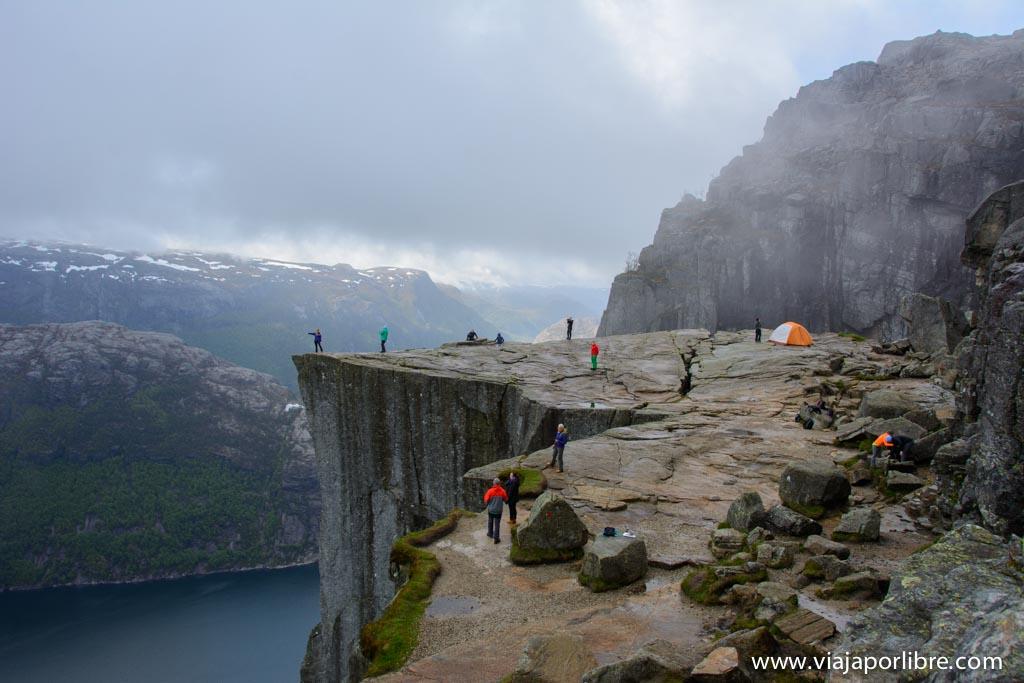 Preikestolen, ruta al Púlpito de Noruega