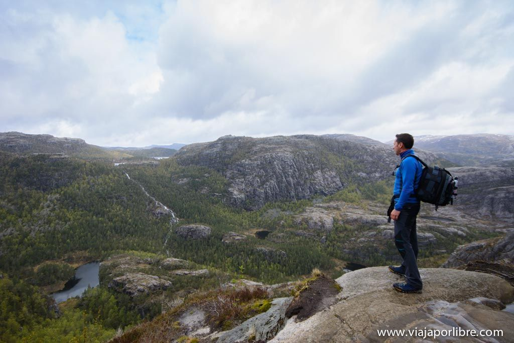 De camino al Púlpito de Noruega
