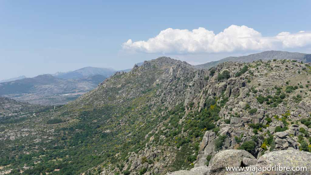 Vistas desde el Pico de la Miel hacia el Cancho Gordo