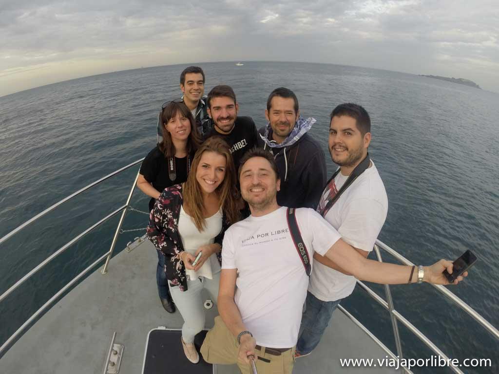 Selfie con GoPro en Bermeo, País Vasco