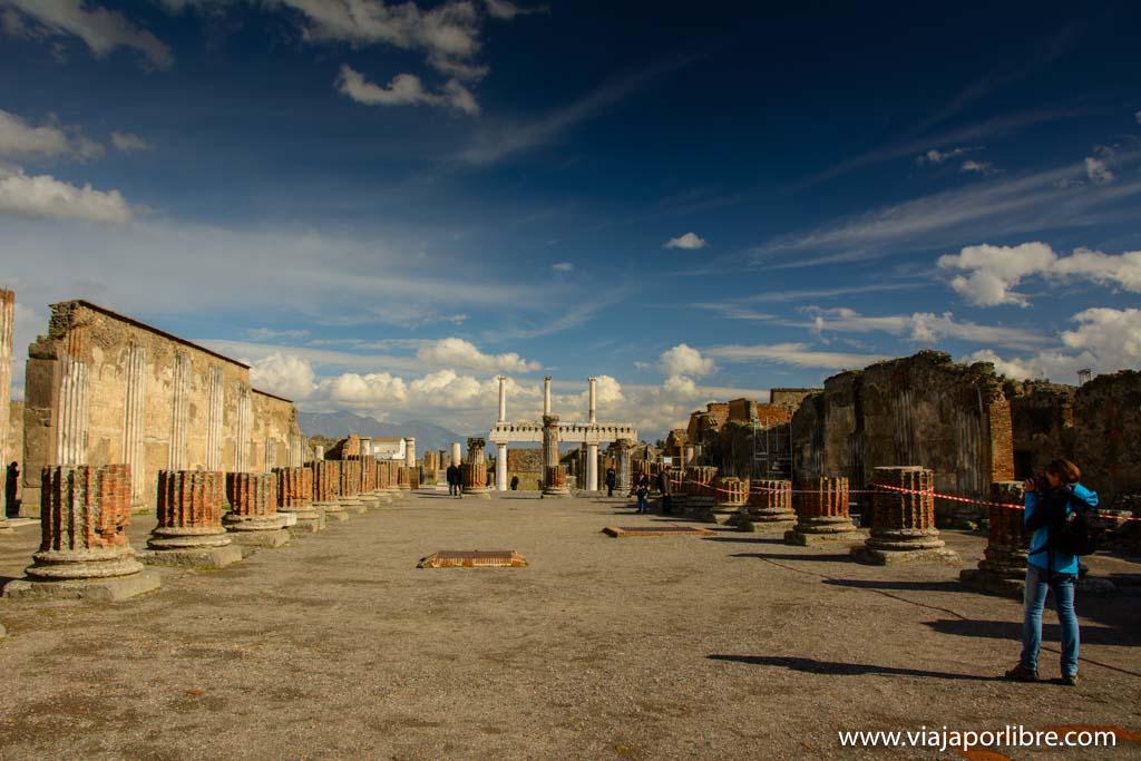 Zona del Foro de Pompeya