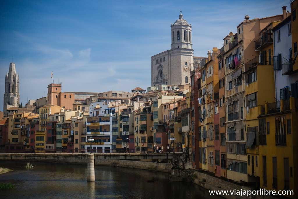 Casas colgantes en Girona